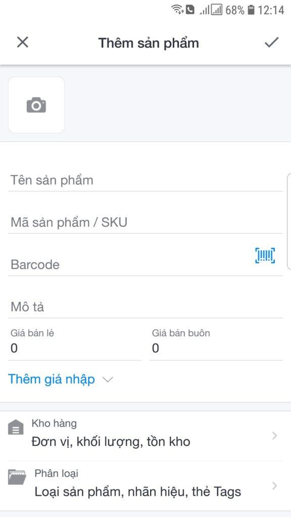phần mềm quản lý bán hàng trên mobile sapo