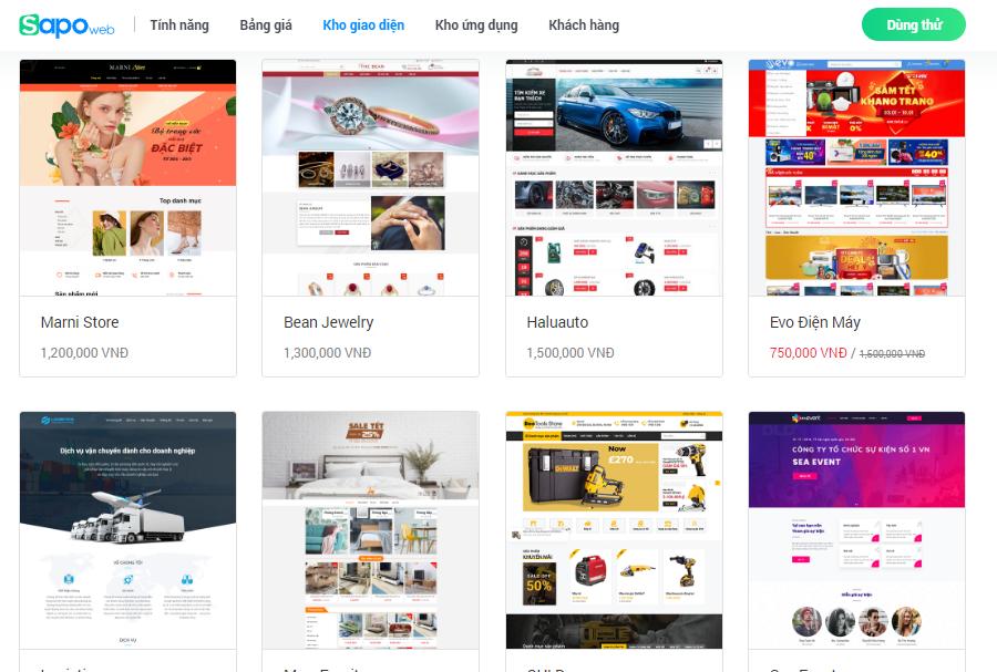 Đánh giá nền tảng website bán hàng sapo và haravan