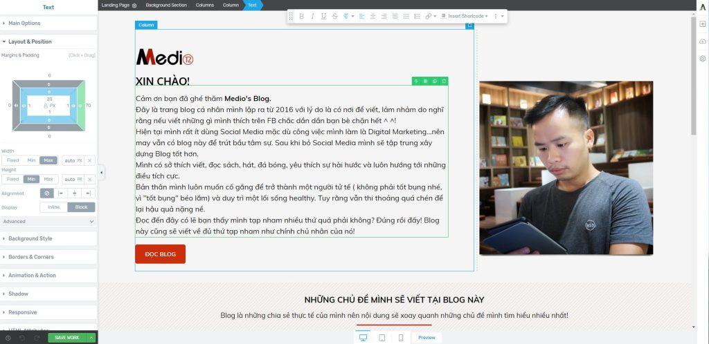 Thiết kế Landing page bằng ladipage